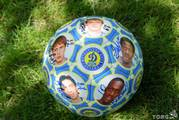 Юбилейный кожаный мяч ФК «Динамо»,  Киев с цветными фото и автографами